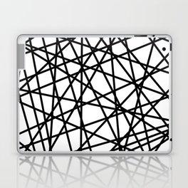 Lazer Dance Black on White Laptop & iPad Skin