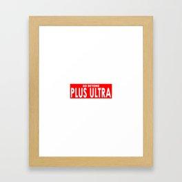 Plus Ultra Banner Framed Art Print