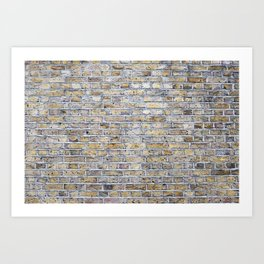 Old brick british wall Art Print
