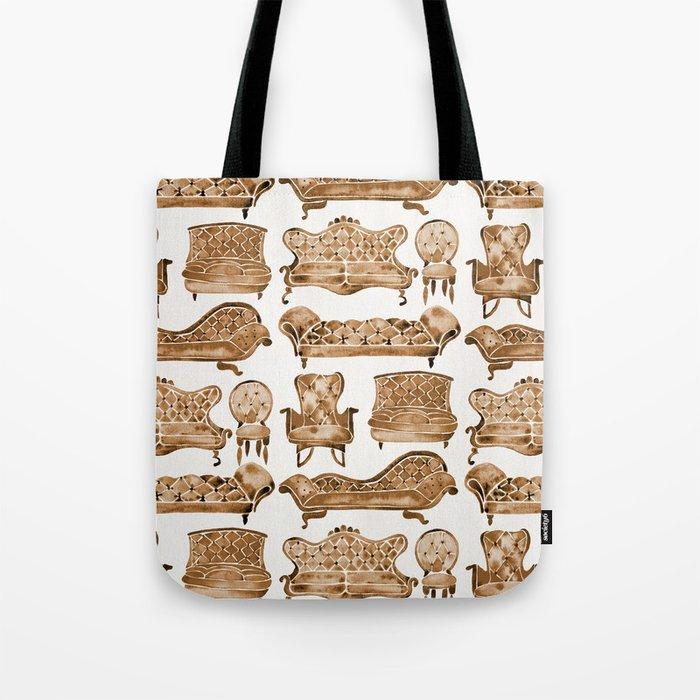 Victorian Lounge – Sepia Palette Tote Bag