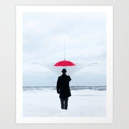 Milwaukee Art Museum On A Snowy Day Art Print