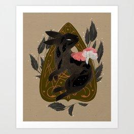 Planchette Rabbit Art Print