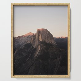 Half Dome at Sunset Serving Tray