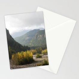 Fall landscape at Nisqually river Stationery Cards