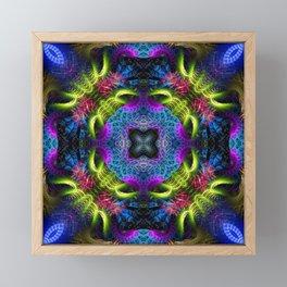Geometric Fractal - Goa Nights Framed Mini Art Print