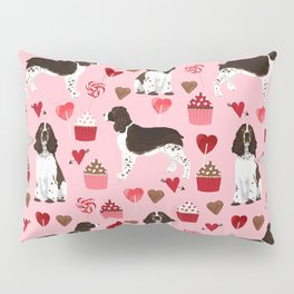 English Springer Spaniel love hearts valentines day gifts for dog person pet friendly pet portrait Pillow Sham