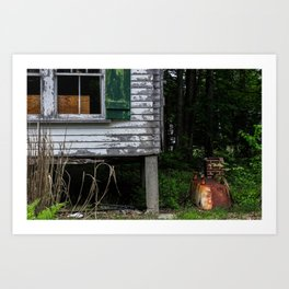 Rusted Tub Art Print