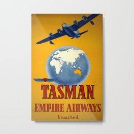 Tasman Empire Airways Vintage Travel Poster Metal Print