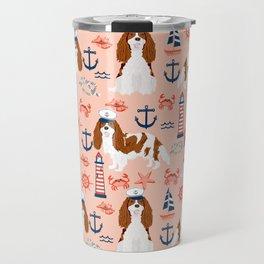 Cavalier King Charles Spaniel nautical sailing lighthouse new england sailboats dog breed Travel Mug