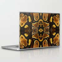 monty python Laptop & iPad Skins featuring Ball Python by Moody Muse