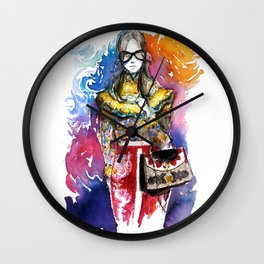 Fashion illustration 2017/2 Wall Clock
