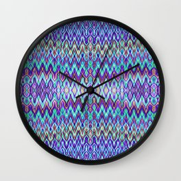 Missoni Style Blue Wall Clock