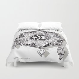Zentangle Dreamcatcher Duvet Cover