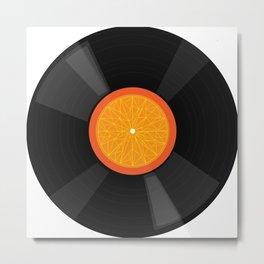 Vinyl Orange Metal Print