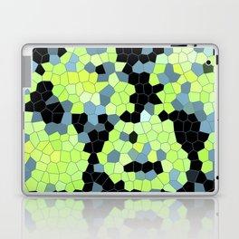 Cell Print Home Decor Graphic Design Pastel Colors Green Grey Blue Black Mint Lime Kiwi Laptop & iPad Skin