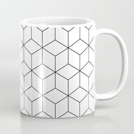 3D Cubes Line Pattern Coffee Mug