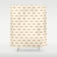 mustache Shower Curtains featuring mustache by Grace