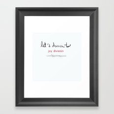 Let's dance to JD Framed Art Print