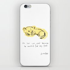 the lion was upset. iPhone & iPod Skin
