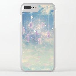 Crystals in the sky Clear iPhone Case
