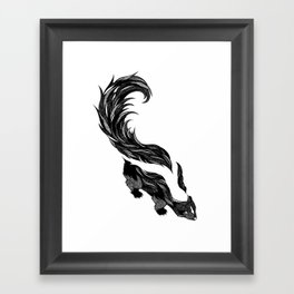 Skunk Framed Art Print