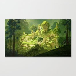 Remain of the ancient river Canvas Print