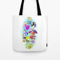 umbrella Tote Bags featuring Umbrella by Natalie Nardozza