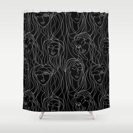 Winking Ladies Shower Curtain