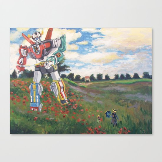 Voltron Dans Les Coquelicots Canvas Print
