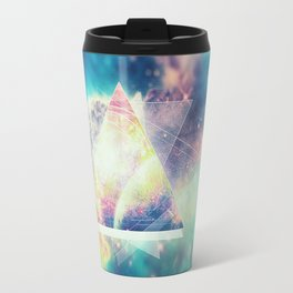 Awsome collosal deep space triangle art sign Travel Mug