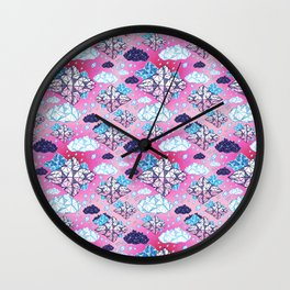 Beautiful geometric clouds with the rain coming Wall Clock