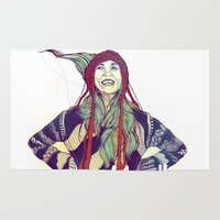 anna Area & Throw Rugs featuring AnnA by Andon Georgiev