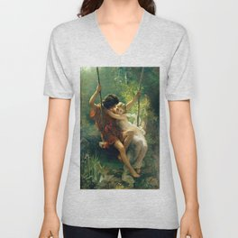 Spring by Pierre Auguste Cot Unisex V-Neck