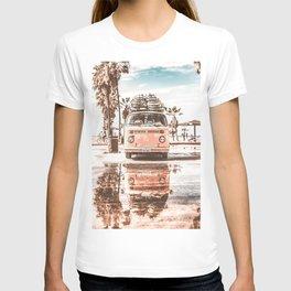 Urban Retro Camper Van With Surfboards T-shirt