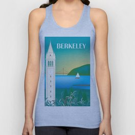Berkeley, California - Skyline Illustration by Loose Petals Unisex Tank Top