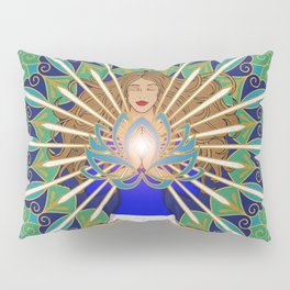 Divine Spark Mandala Pillow Sham