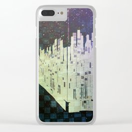 On The Spatial Grid Clear iPhone Case