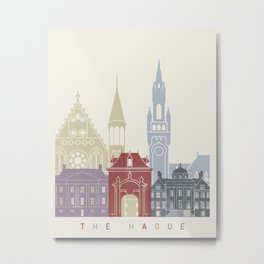 The Hague skyline poster Metal Print