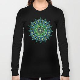 Watercolor Mandala – Green Long Sleeve T-shirt