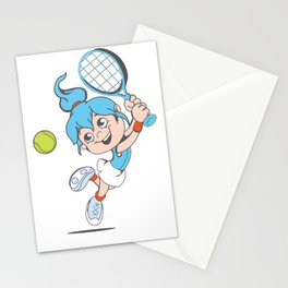 Tennis Girl Present gift Stationery Cards