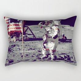 USA  Astronaut Moon Landing Rectangular Pillow