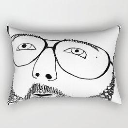 Somewhere Over the Beard Rectangular Pillow