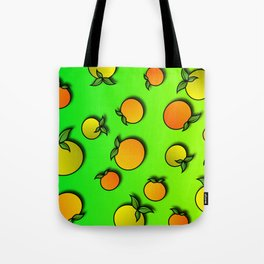 Abstract Colorful Background with Mandarins - Poster - Paper Tote Bag