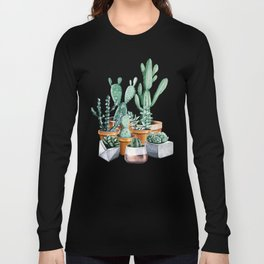 Potted Cacti Long Sleeve T-shirt