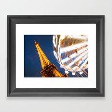 Tour Eiffel Carousel Framed Art Print