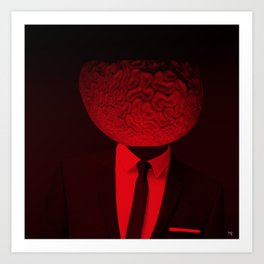 red 1 · the truth is dead Art Print
