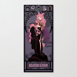 Black Lady Nouveau - Sailor Moon Canvas Print