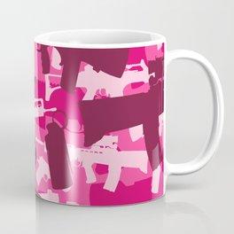 Military Camouflage Neck Gator Pink Camo Weapons Coffee Mug