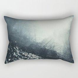 Black and Blue Rectangular Pillow