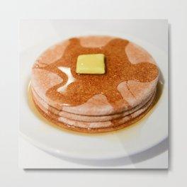 Coaster Pancakes Metal Print